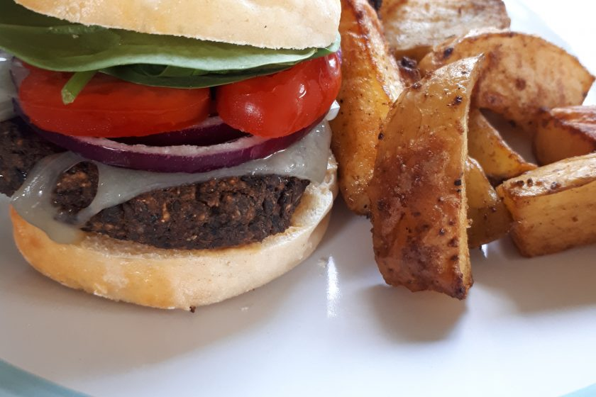 The Ultimate Veggie Burger and Chips