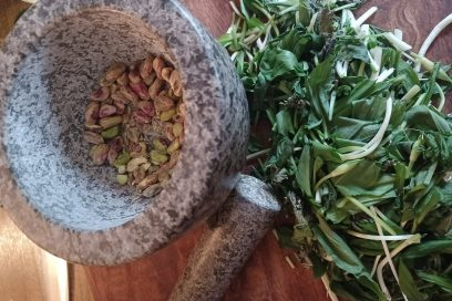 Wild Garlic and Pistachio Pesto